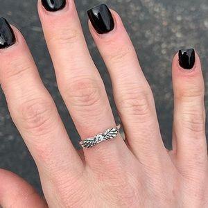 Pandora Sparkling Angel Wing Ring Size 5